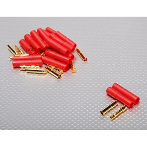 Коннектор HXT 4mm Gold с протектором (папа/мама)