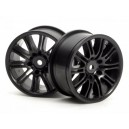 HPI3771 Комплект дисков 1:10, для шин 10 Spoke, черный, шир.26мм,шоссе,адаптер 12мм, 2шт