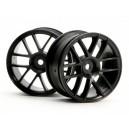 HPI3796 Комплект дисков 1:10, для шин Split 6, черный, шир.26мм, шоссе, 2шт