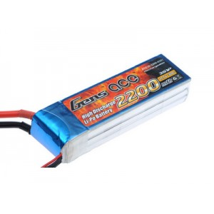 LiPo аккумулятор Gens Ace 11.1V 2200 mAh 3S1P 30C Soft Case
