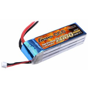 LiPo аккумулятор Gens Ace 11.1V 2600 mAh 3S1P 25C Soft Case