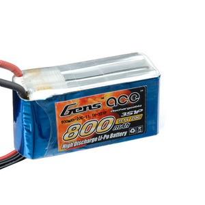 LiPo аккумулятор Gens Ace 11.1V 800 mAh 3S1P 20C Soft Case