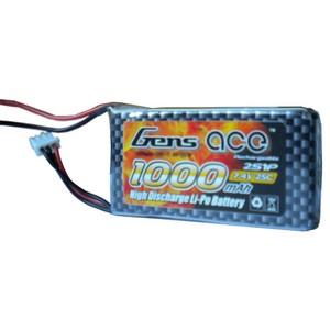 LiPo аккумулятор Gens Ace 7.4V 1000 mAh 2S1P 25C Soft Case