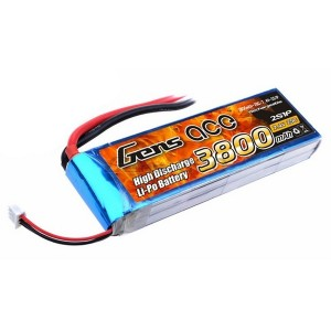 LiPo аккумулятор Gens Ace 7.4V 3800 mAh 2S1P 25C Soft Case