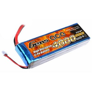 LiPo аккумулятор Gens Ace 7.4V 4000 mAh 2S1P 25C Soft Case