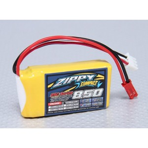 LiPo аккумулятор ZIPPY Compact 850mAh 2S 25C