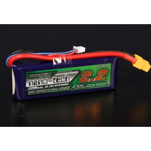 LiPo аккумулятор Turnigy nano-tech 2200mah 2S 35-70C