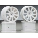 JConcepts Rulux 1/10th Rear Wheel (White) (2)