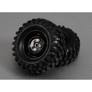 Колеса в сборе для моделей трофи 1/10 Crawler 12mm Hex (2шт)