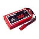 Аккумулятор AGA POWER Li-Po 350mAh 7.4V 2S 25C Softcase 10x25x40мм JST