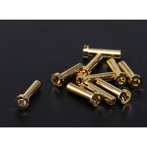 4.0mm Low Profile Gold Plated Bullect Connectors