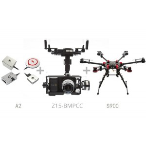 Гексокоптер DJI Spreading Wings S900 + Полетный контроллер A2 + Zenmuse Z15 (BMPCC)