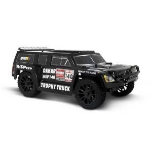 Автомобиль HSP Hummer Dakar H140 1:14 трофи - трак 4WD электро черный RTR