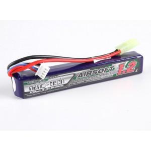 Аккумулятор для страйкбола Turnigy nano-tech 1200mah 3S 15~25C LiPo AIRSOFT