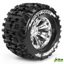 Колеса Louise Monster 1/8 MT-PIONEER вылет 1/2 хром 2шт (L-T3218CH)