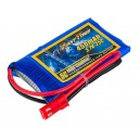 Аккумулятор LiPo Giant Power 450mAh 3.7V 1S 25C 4.5x30x53мм JST