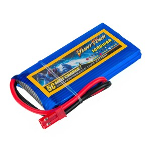 Аккумулятор LiPo Giant Power 1000mAh 3.7V 1S 35C 8x34x65мм JST