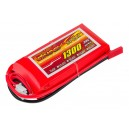Аккумулятор LiPo Dinogy 1300mAh 7.4V 2S 30C 17x35x73мм JST