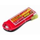 Аккумулятор LiPo Dinogy 1500mAh 7.4V 2S 30C 14x30x90мм Mini Tamiya
