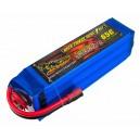 Аккумулятор LiPo Dinogy 5000mAh 22.2V 6S 65C 51x46x165мм Bullet 6mm