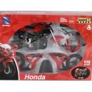 Мотоцикл New Ray Honda сборный в масштабе 1:12