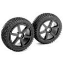 Team Magic B8 Pre-mounted Tires 6 Spokes Black 2p