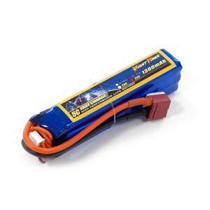 Аккумулятор для страйкбольного привода Li-Po 11.1V 3S 1300mAh 25C 24х20х96мм T-Plug Giant Power