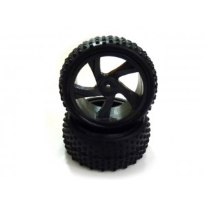28659 Tire and Rim for Buggy and Short Course Truck 2P