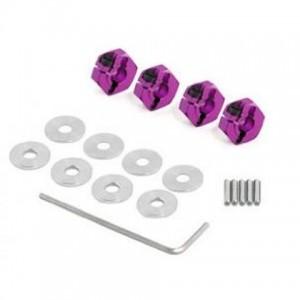 HPI Racing Комплект алюминиевых фиксаторов колес с шайбами и штифтами, 4 шт