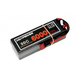 Аккумулятор AGA POWER Li-Po 6000mAh 11.1V 3S2P 30C