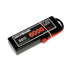 Аккумулятор AGA POWER Li-Po 6000mAh 7.4V 2S2P 30C