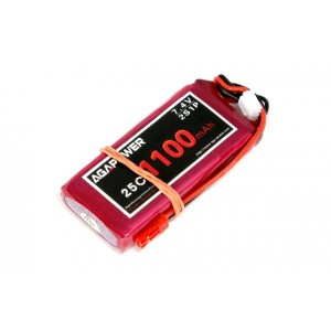 Аккумулятор AGA POWER Li-Po 1100mAh 7.4V 2S 25C