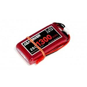 Аккумулятор AGA POWER Li-Po 1300mAh 7.4V 2S 25C