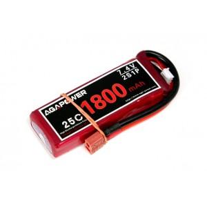 Аккумулятор AGA POWER Li-Po 1800mAh 7.4V 2S 25C
