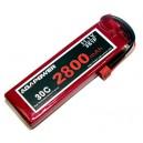 Аккумулятор AGA POWER Li-Po 2800mAh 11.1V 3S 30C Softcase 26x34x105мм T-Plug