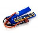 Аккумулятор для страйкбольного привода Li-Po 7.4V 2S 1300mAh 25C нунчаки 7.5х18х96мм T-Plug Giant Power